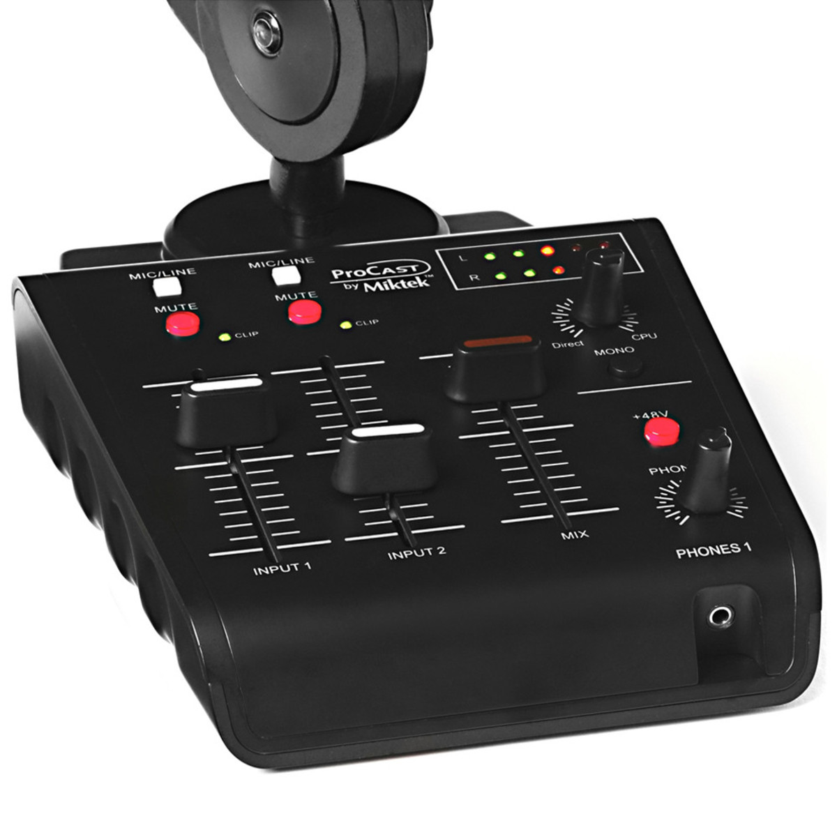 miktek procast usb mic mixer broadcast stand and cables at gear4music. Black Bedroom Furniture Sets. Home Design Ideas