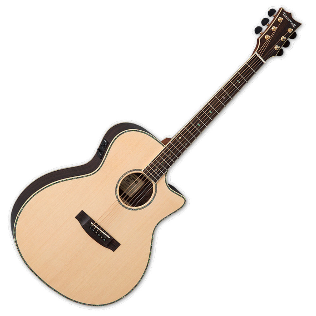 esp ltd a 430e tombstone electro acoustic guitar natural at. Black Bedroom Furniture Sets. Home Design Ideas