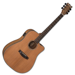 ESP LTD D-320E Tombstone Electro Acoustic Guitar, Natural Satin