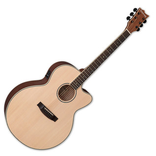 ESP LTD J-310E Tombstone Electro Acoustic Guitar, Natural Satin