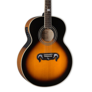ESP LTD GL-J2E Tombstone Electro Acoustic Guitar, Tobacco Sunburst