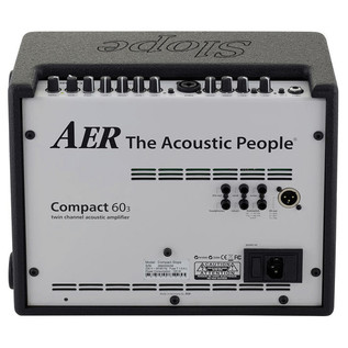 AER Compact 60 Slope, Rear Panel