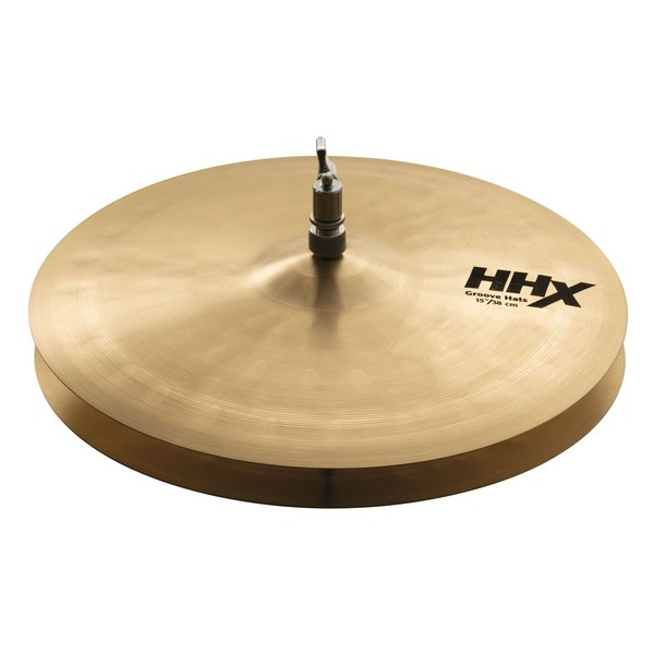 Sabian HHX 15'' Groove Hi-Hat Cymbals, Natural Finish