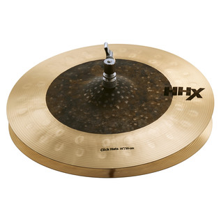 "Sabian HHX 14"" Click Hi-Hat Cymbals, Natural Finish"