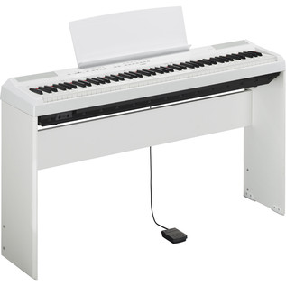 Yamaha P115 Digital Piano, White 2