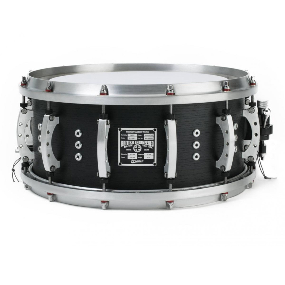 Premier \'The Beast\' Snare Drum with Air-Flow Shell Technology bei ...
