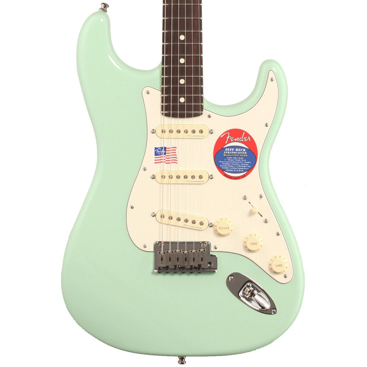 Green Fender Electric Guitar : fender jeff beck stratocaster electric guitar surf green at ~ Hamham.info Haus und Dekorationen