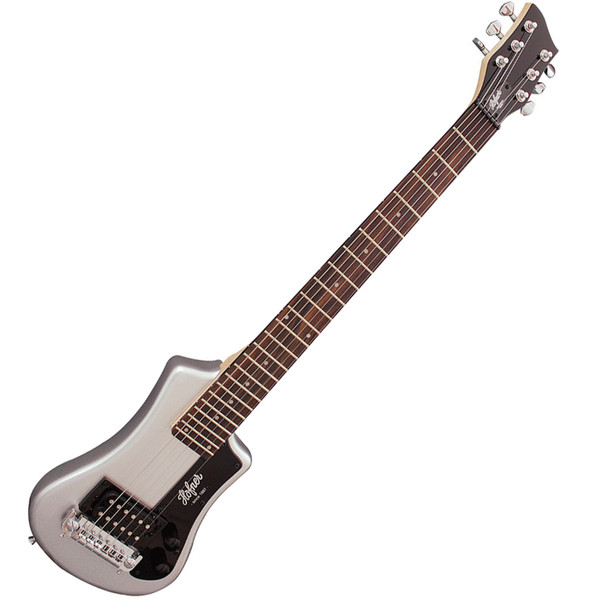 Hofner HCT Shorty Electric Guitar, Silver Sparkle