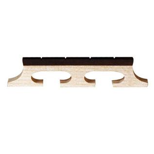 Barnes & Mullins Banjo Bridge. Ebony Inlay. Slotted 4 String. 1/2