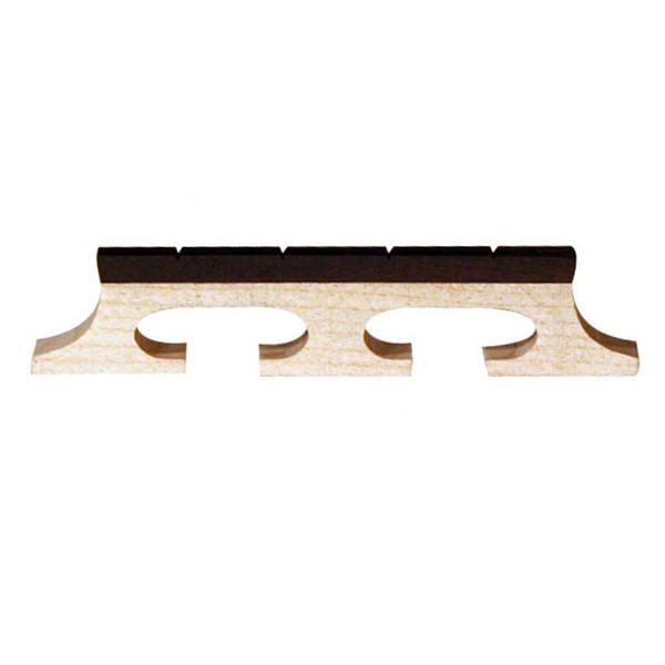 "Barnes & Mullins Banjo Bridge. Ebony Inlay. Slotted 4 String. 1/2"""