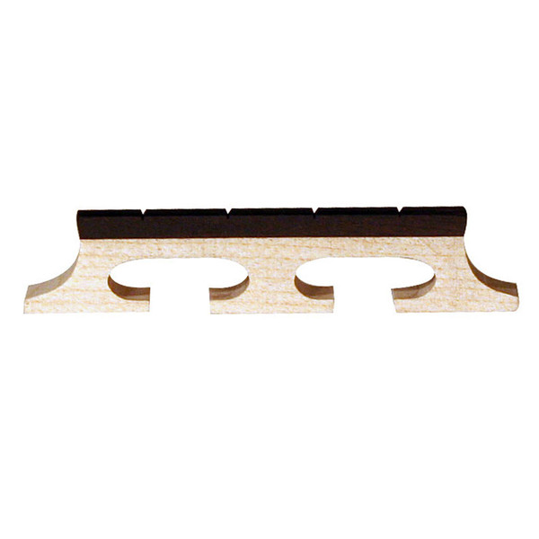 Barnes & Mullins Banjo Bridge. Ebony Inlay. Slotted 4 String. 5/8""