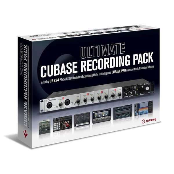 Steinberg Ultimate Cubase Recording Pack, UR824 and Cubase Pro - Boxed (Angled)