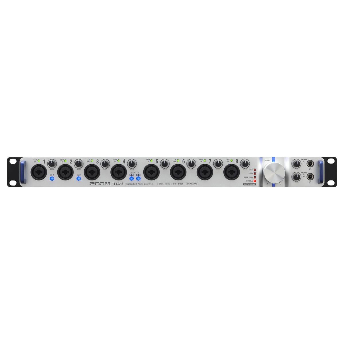 zoom tac 8 thunderbolt audio interface at gear4music. Black Bedroom Furniture Sets. Home Design Ideas