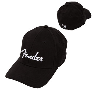 Fender Logo Stretch Cap, Black, S/M