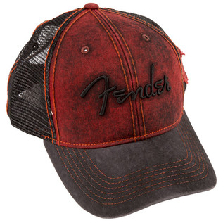 Fender Washed Trucker, Dark Red/Blk, One Size