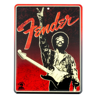 Fender Jimi Hendrix Peace Sign Tin Sign