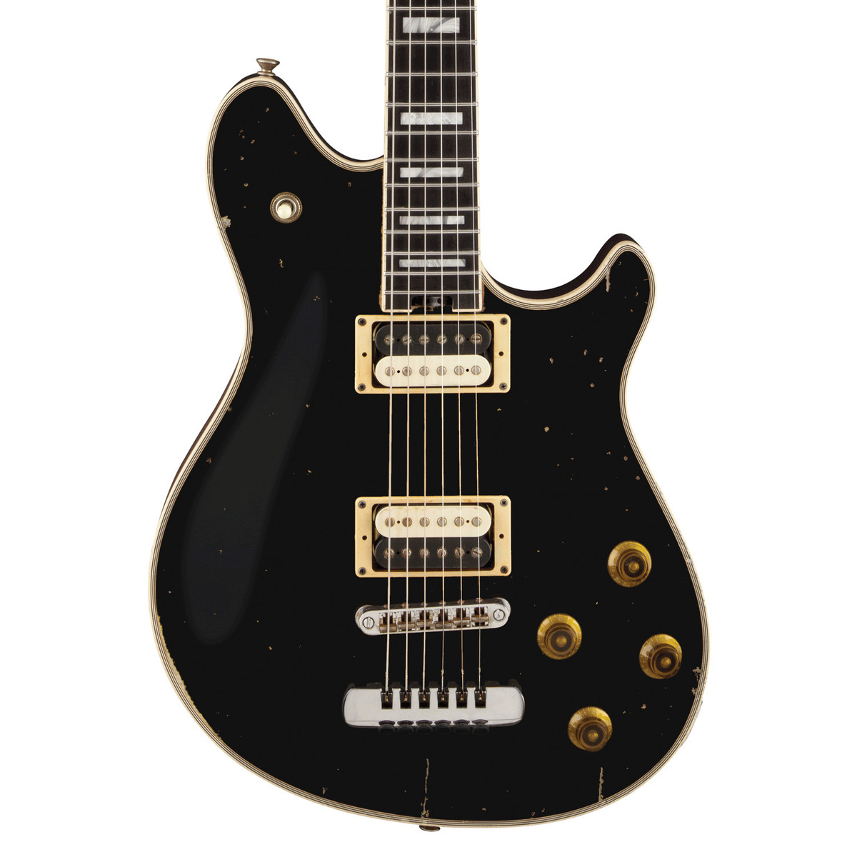 EVH Wolfgang USA Custom Relic Electric Guitar, Black at