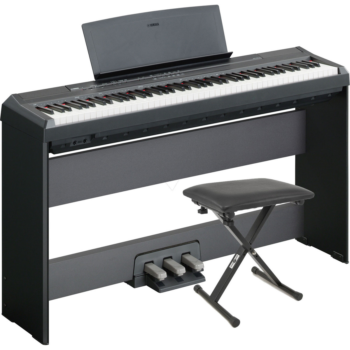 disc yamaha p105 digital piano black w stand pedal