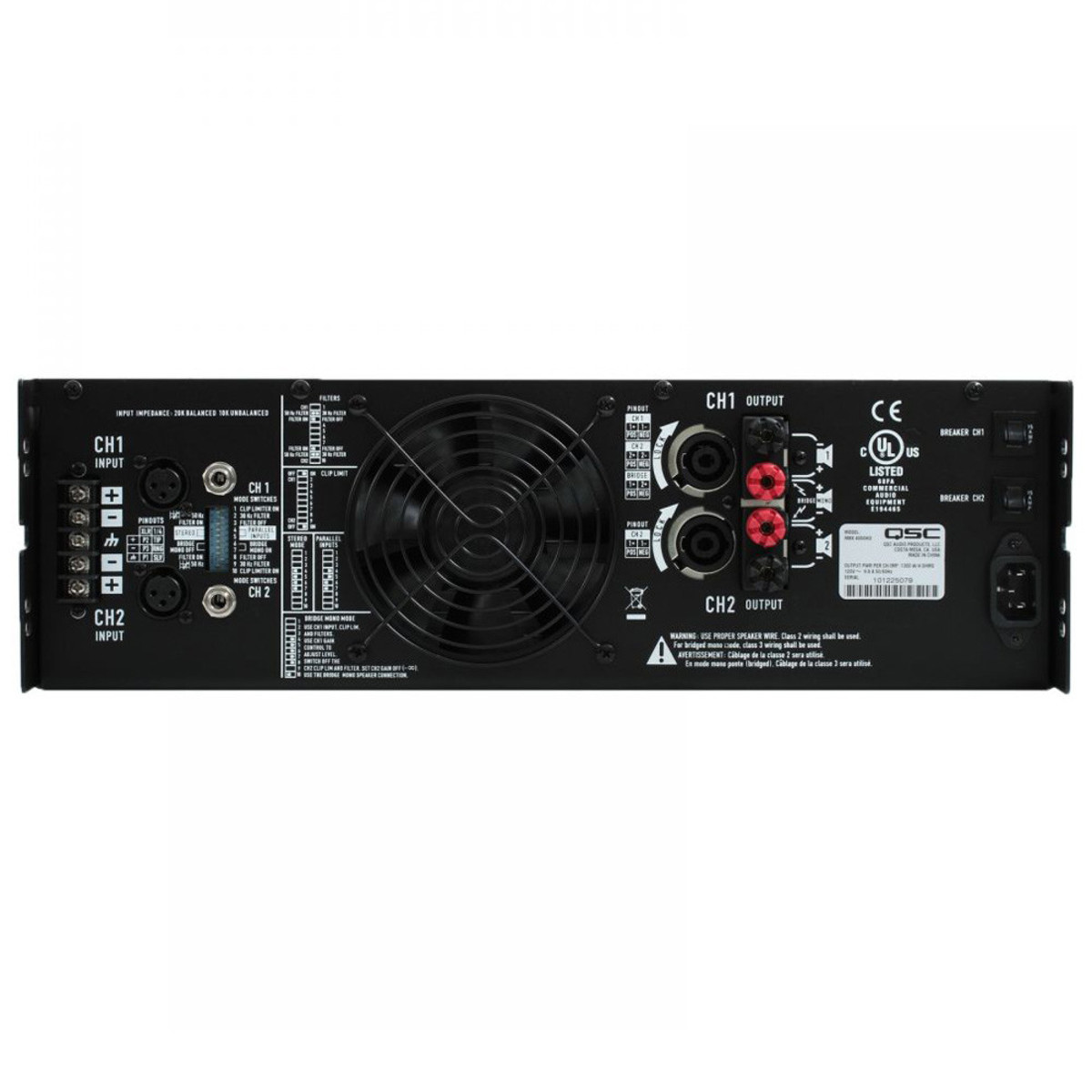 Qsc Rmx 4050a 2 Channel Power Amplifier At Gear4music 1400w Audio