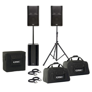 3000W QSC K-Series PA Pack K10 & KSub + Bags