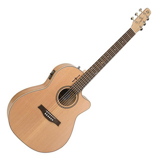 Seagull Natural Elements CW Folk Electro Acoustic Guitar, Natural Cherry