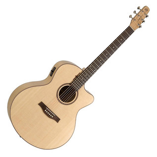 Seagull Natural Elements CW Mini Jumbo Electro Acoustic Guitar, Amber