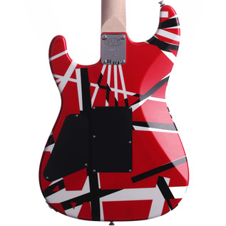 EVH Stripe Series Electric Guitar, Red with Black Stripes