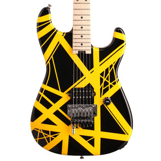 EVH Stripe Series Electric Guitar, Black with Yellow Stripes