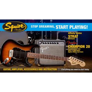 Squier Stop Dreaming, Start Playing Affinity Strat Pack, Sunburst