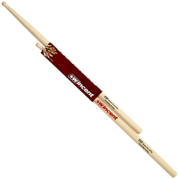 Wincent Maple Fusion 5A/5B Round Tip Drumsticks