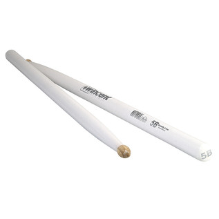 Wincent Hickory 5B Natural Drumsticks, White