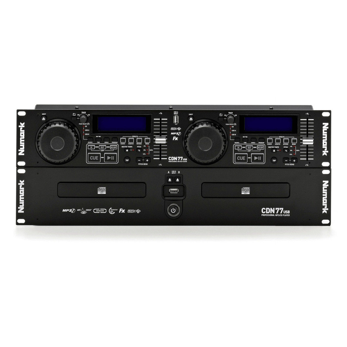 numark cdn77usb professional dual usb mp3 cd player at. Black Bedroom Furniture Sets. Home Design Ideas