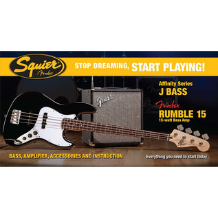 Squier Stop Dreaming, Start Playing Affinity Jazz Bass Pack, Black