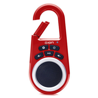 ION ISP29R Clipster Ultra-Portable Wireless Bluetooth Speaker, Red
