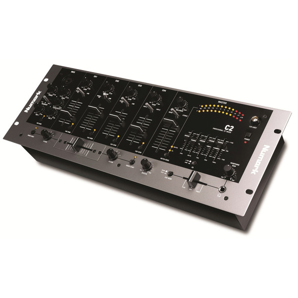 Numark C2 4 Channel Rack DJ Mixer with 5-Band EQ