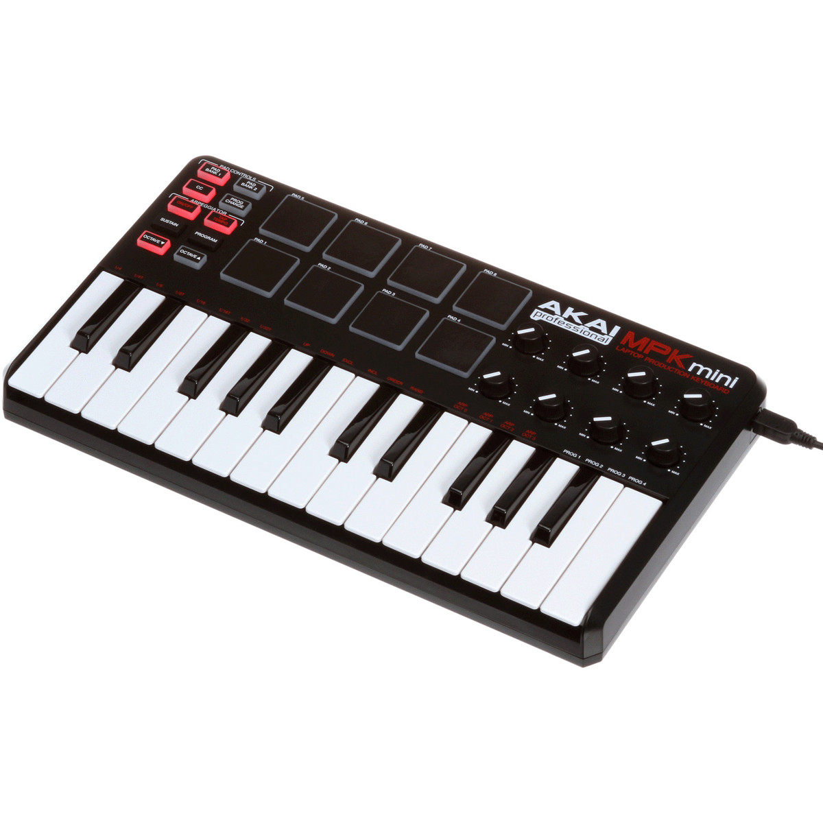 akai pro mpk mini usb midi keyboard with drum pads nearly new at gear4music