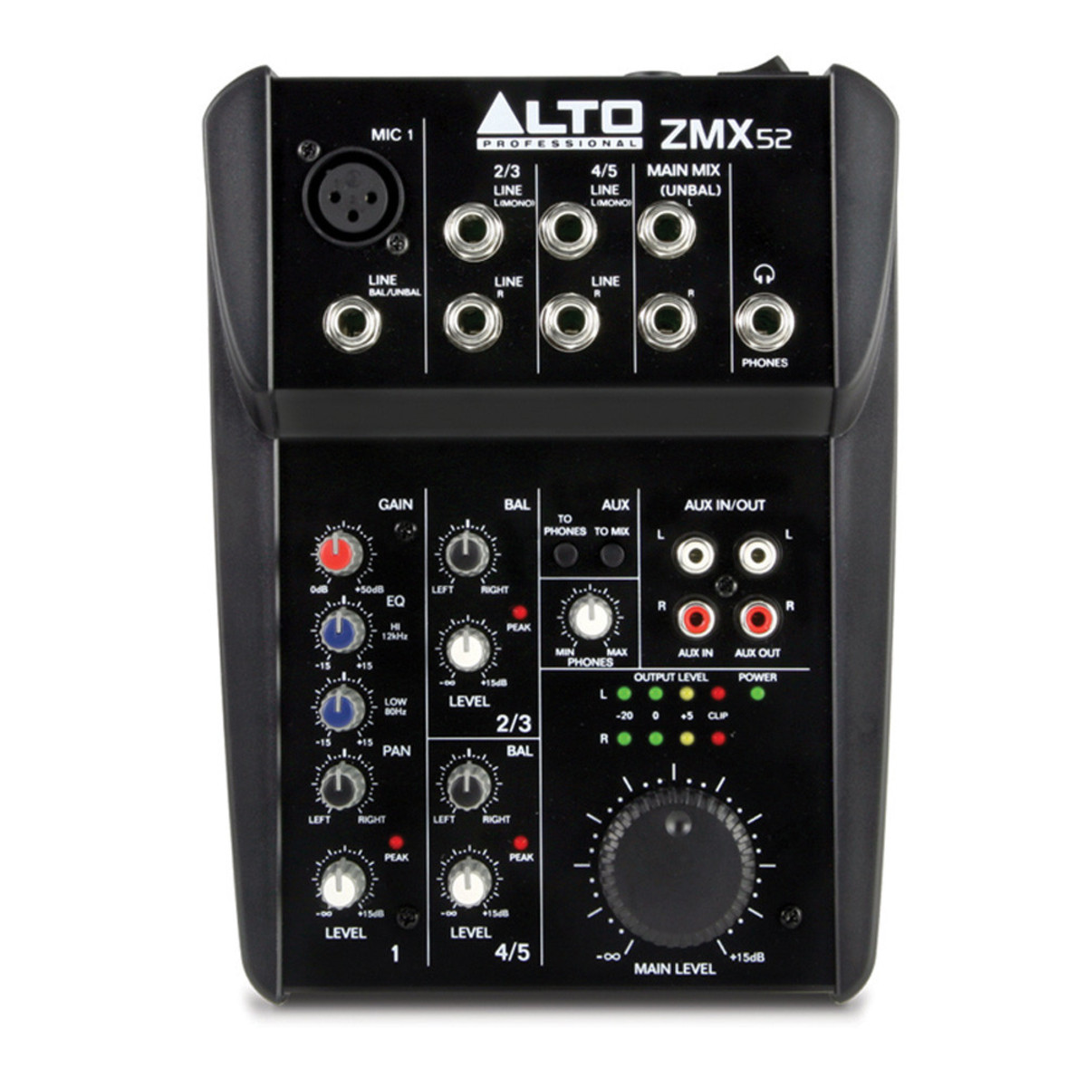 Alto Zephyr Zmx52 5 Channel Compact Mixer At Gear4music