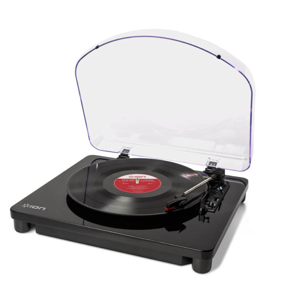 platine vinyle ion classic lp usb noir laqu. Black Bedroom Furniture Sets. Home Design Ideas