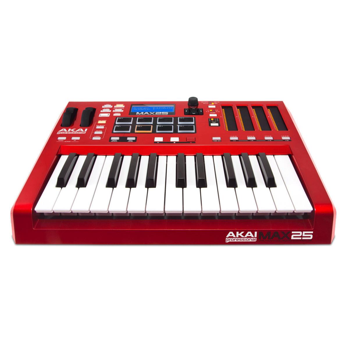 disc akai max 25 compact usb  midi  cv keyboard controller