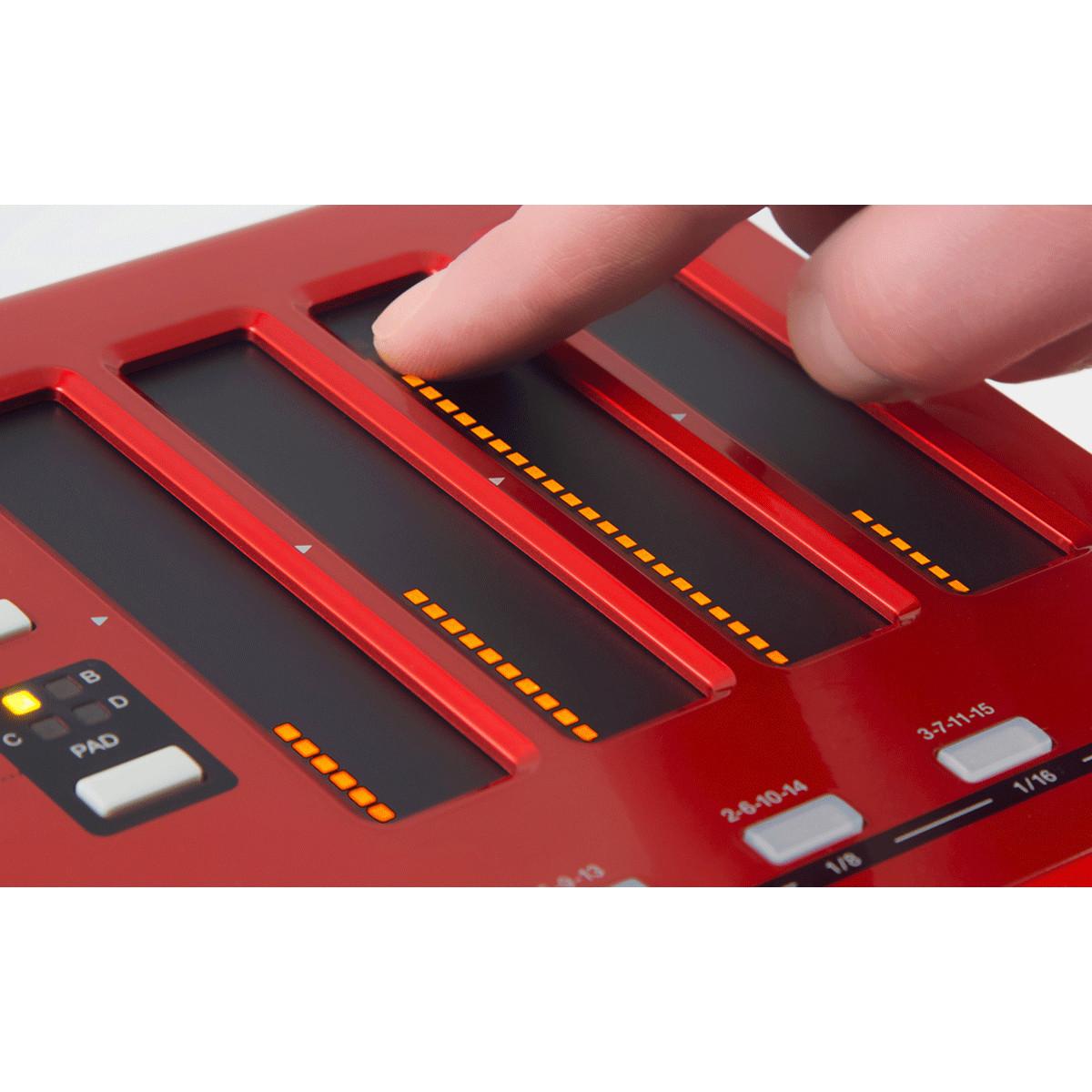 akai max25 teclado controlador usb  midi  cv compacto na