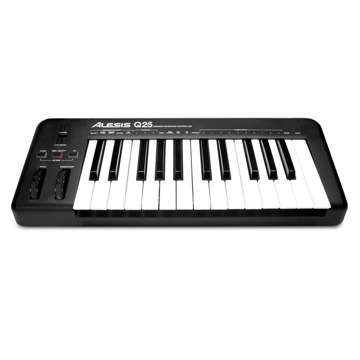 alesis q25 25 key usb midi keyboard at gear4music. Black Bedroom Furniture Sets. Home Design Ideas