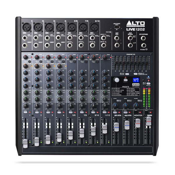 Alto Live 1202 12 Channel USB Mixer with DSP