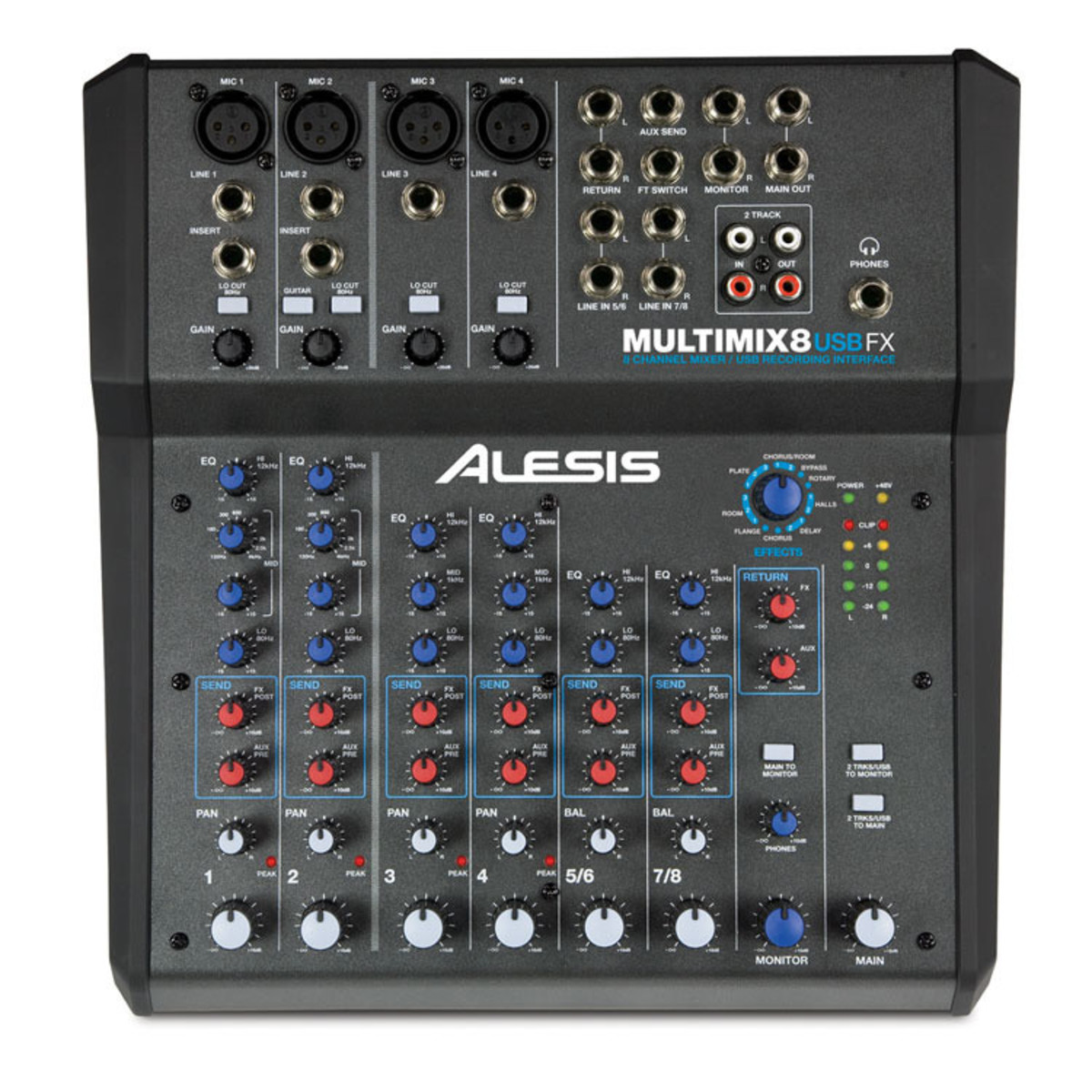 Alesis multimix 8 usb fx console de mixage analogique enregistrement 16 bit gear4music - Table de mixage yamaha usb ...