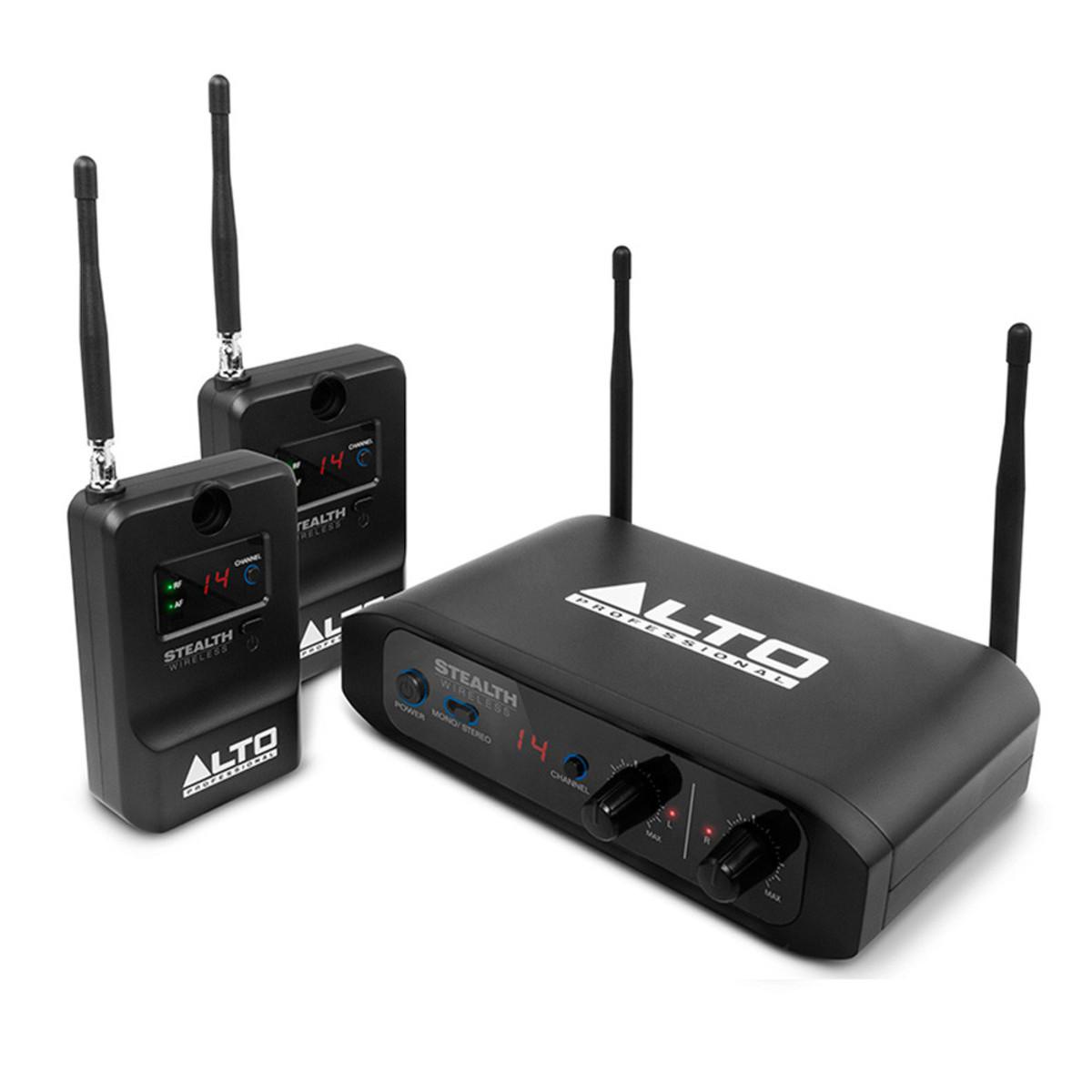 Alto Stealth Wireless 2 Channel Wireless Speaker System At
