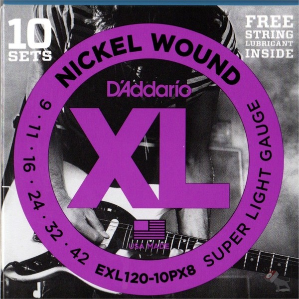DAddario EXL120 Electric Strings 10 pack