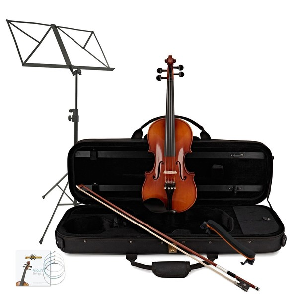 Archer 44V-500 Full Size Violin + Accessory Pack by Gear4music