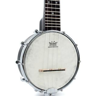 Kala KA-BNJ-BK-S Soprano Banjo Ukulele, Satin Black