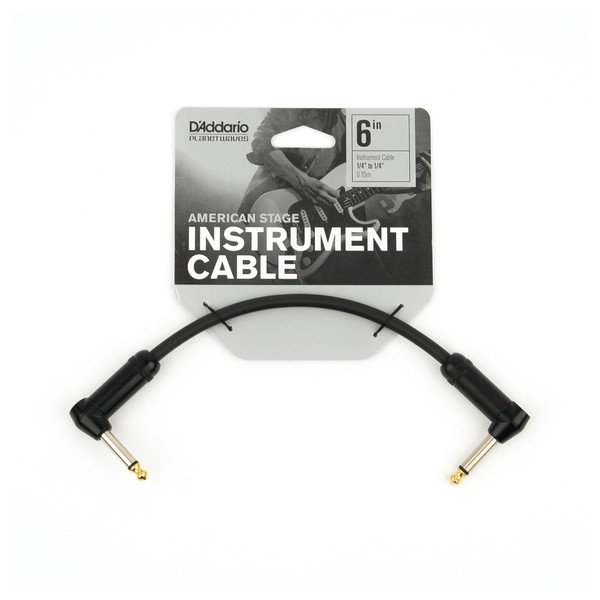 """D'Addario American Stage 1/4"""" Patch Cable, 6 Inch"""