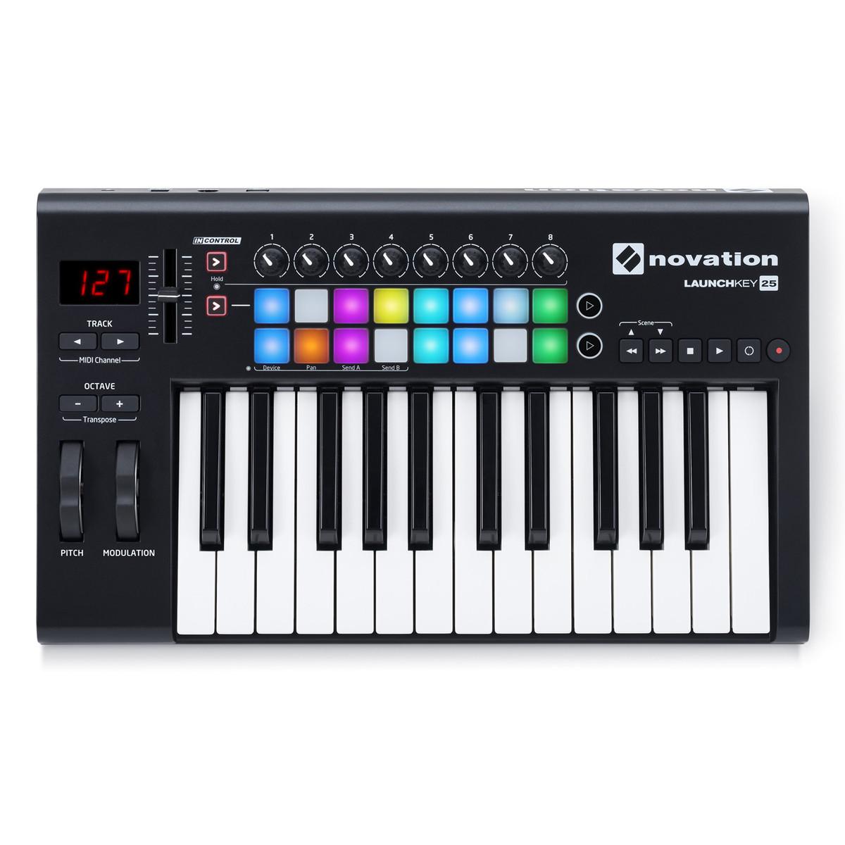 novation launchkey 25 mk2 midi controller keyboard at gear4music. Black Bedroom Furniture Sets. Home Design Ideas