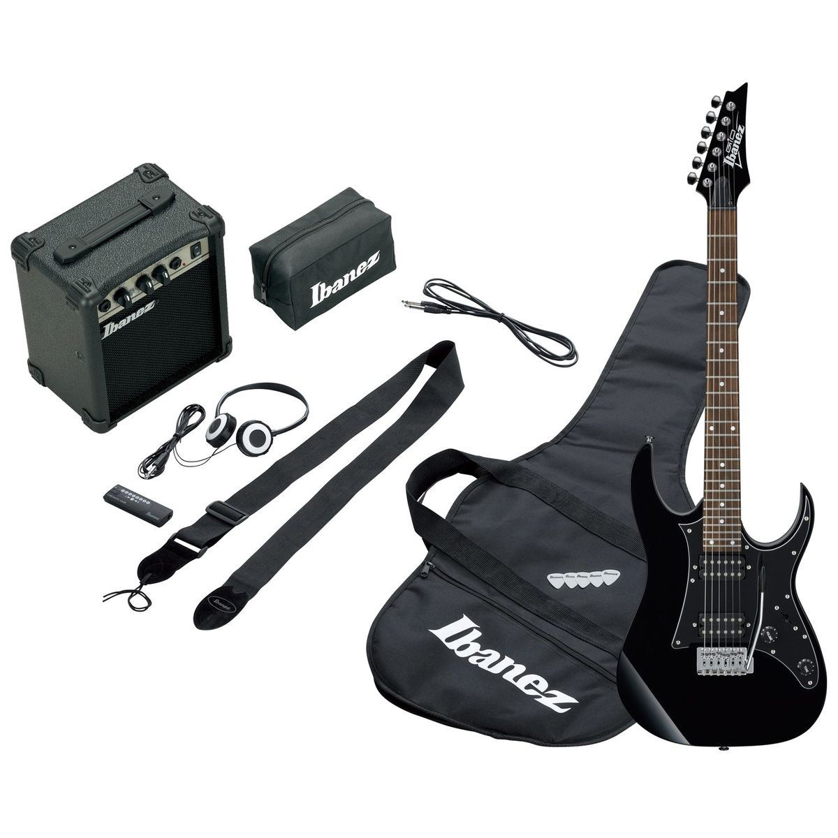 ibanez ijrg200e jumpstart electric guitar pack black at gear4music. Black Bedroom Furniture Sets. Home Design Ideas